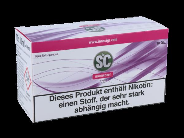 SC Nikotin Shots 18mg/ml - 10er Pack