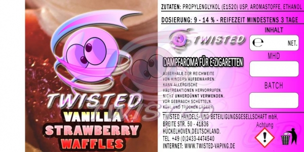 Twisted Aroma Vanille Strawberry Waffles