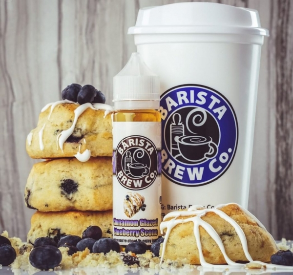Barista Brew Cinnamon Glazed Blueberry Scone