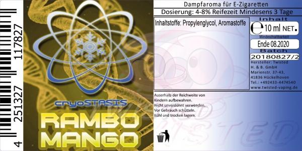 Twisted Aroma Cryostasis Rambo Mango